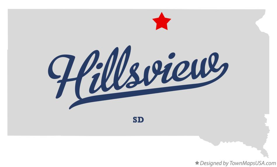 Map of Hillsview South Dakota SD
