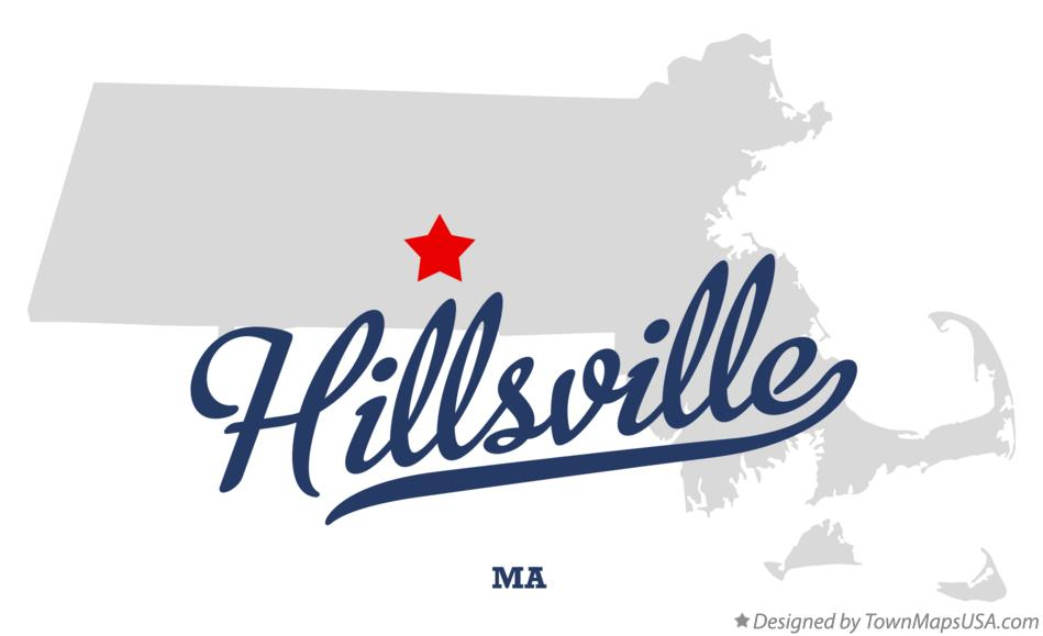 Map of Hillsville Massachusetts MA