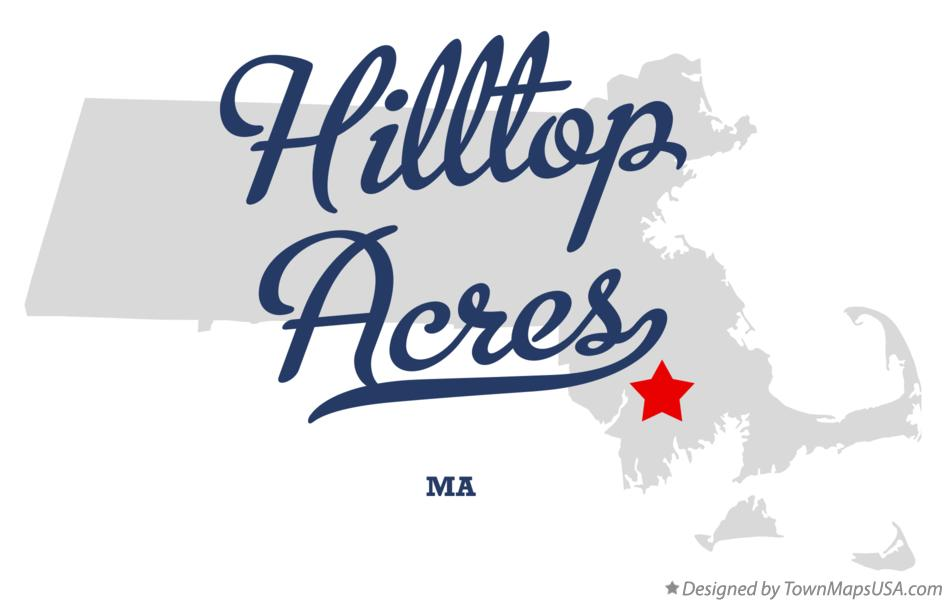 Map of Hilltop Acres Massachusetts MA