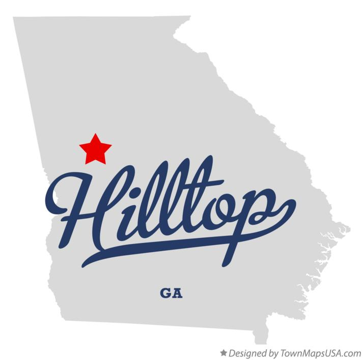 Map of Hilltop Georgia GA