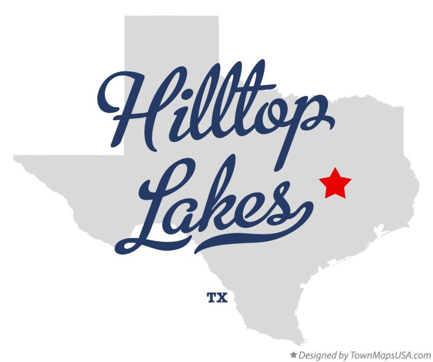 Map of Hilltop Lakes Texas TX