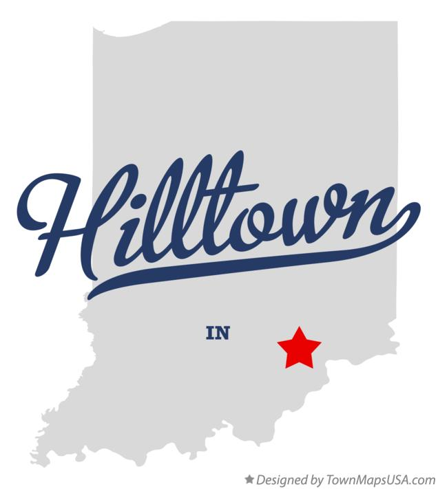 Map of Hilltown Indiana IN