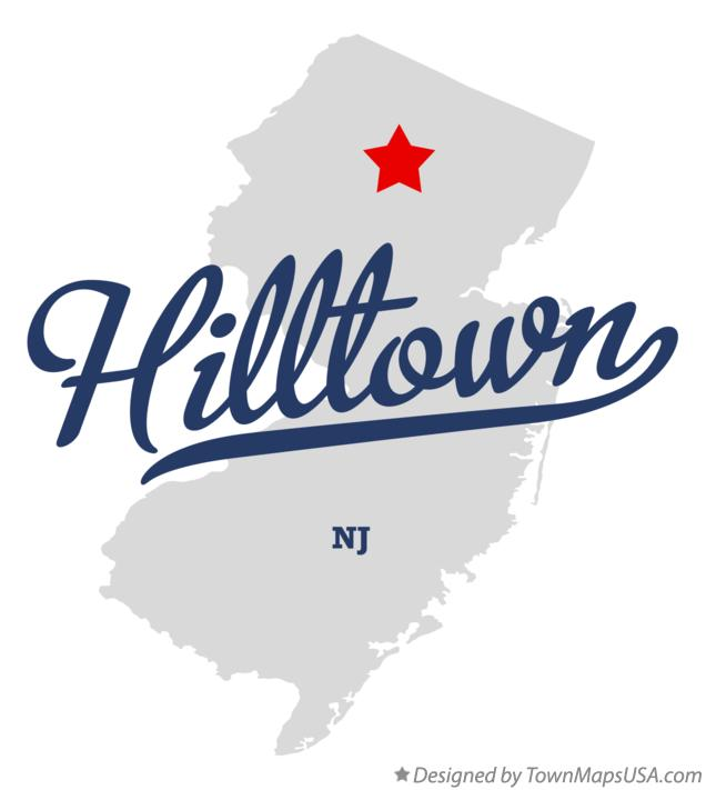 Map of Hilltown New Jersey NJ