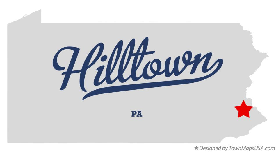 Map of Hilltown Pennsylvania PA