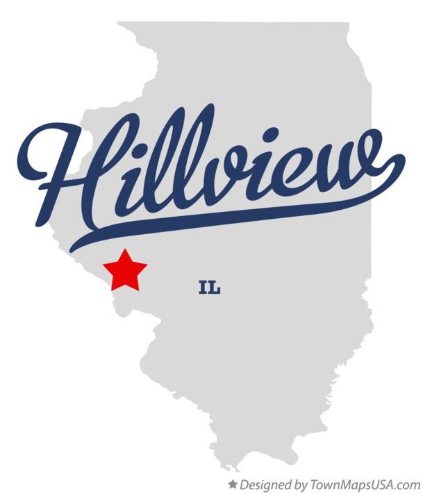 Map of Hillview Illinois IL