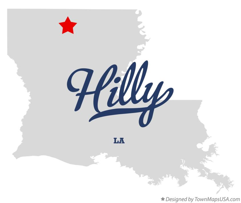 Map of Hilly Louisiana LA