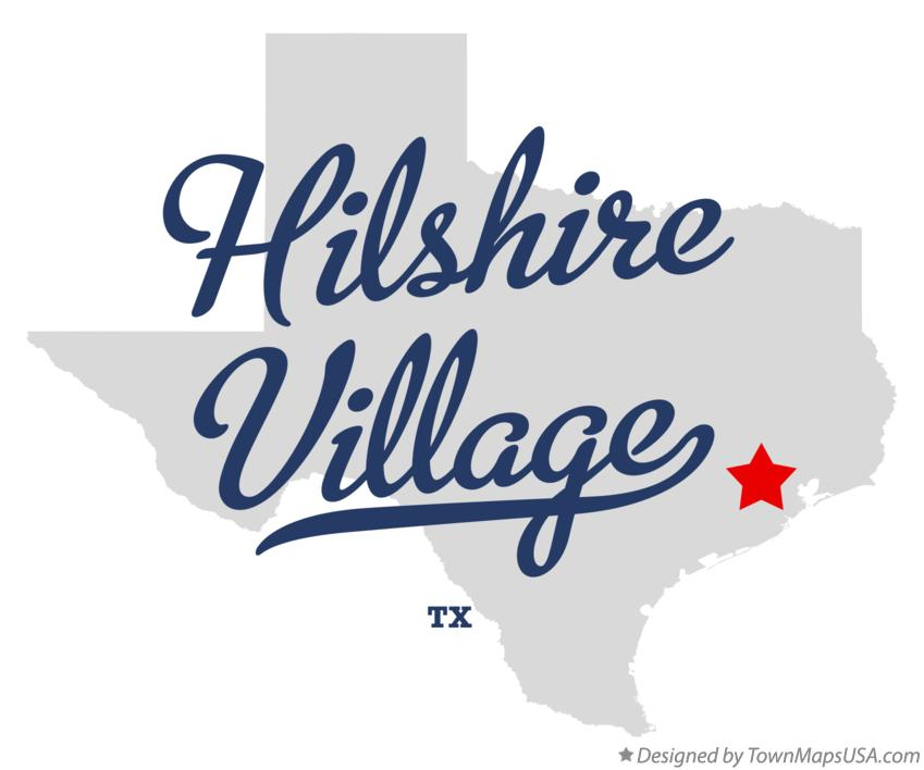 Map of Hilshire Village Texas TX