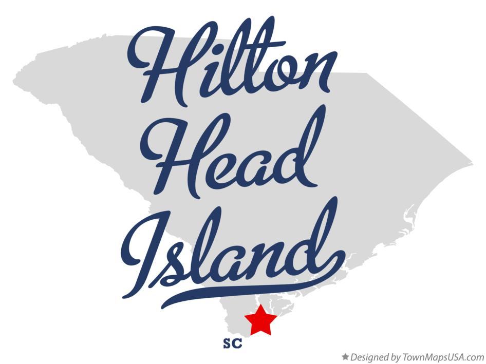 Map of Hilton Head Island South Carolina SC