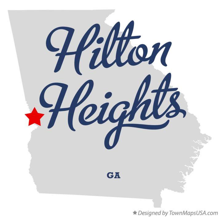 Map of Hilton Heights Georgia GA