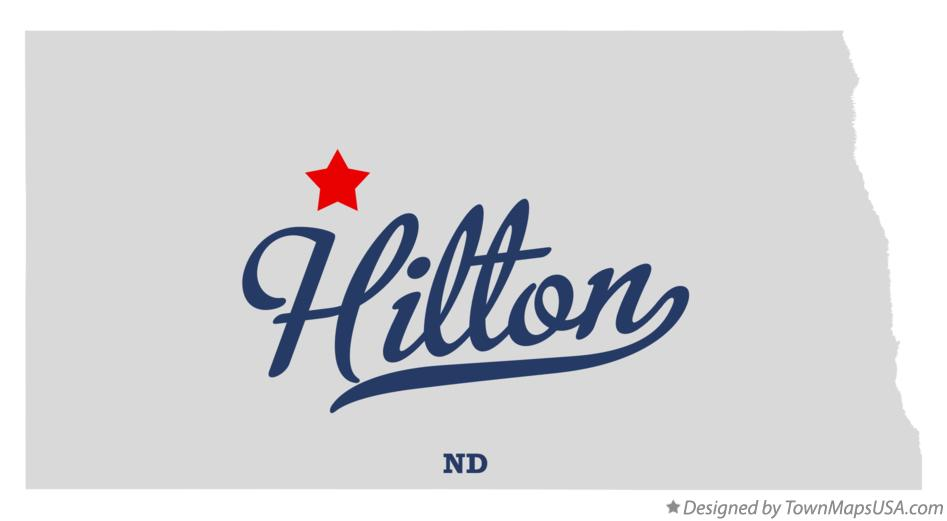 Map of Hilton North Dakota ND
