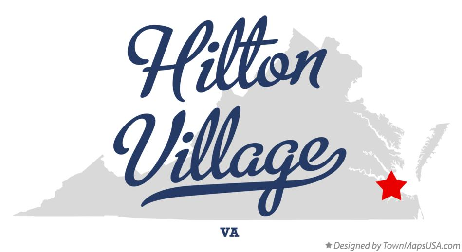 Map of Hilton Village Virginia VA