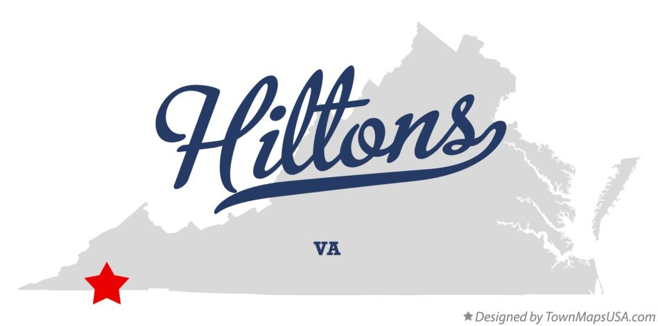 Map of Hiltons Virginia VA