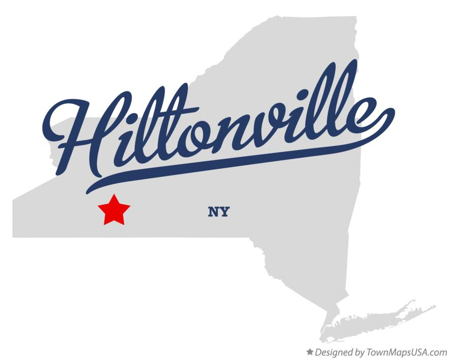 Map of Hiltonville New York NY