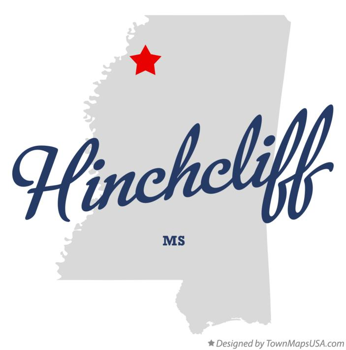 Map of Hinchcliff Mississippi MS