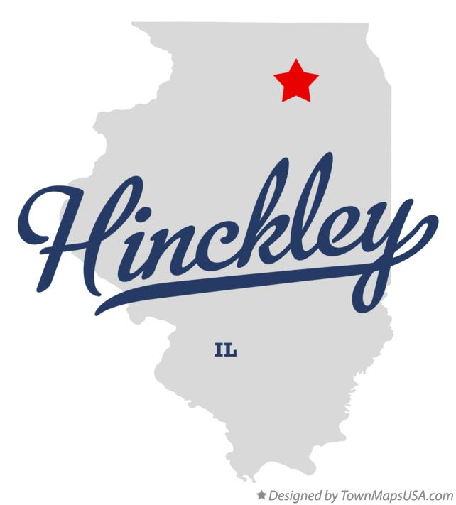 Map of Hinckley Illinois IL
