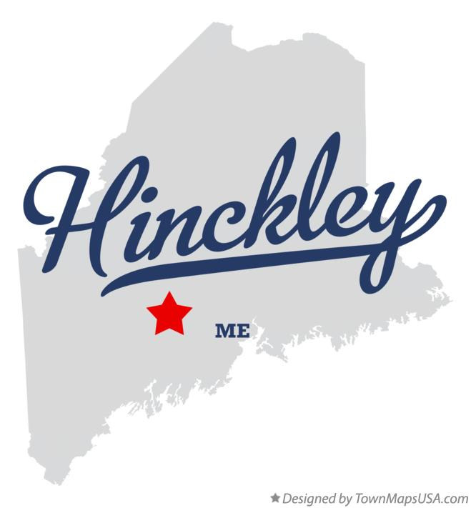 Map of Hinckley Maine ME