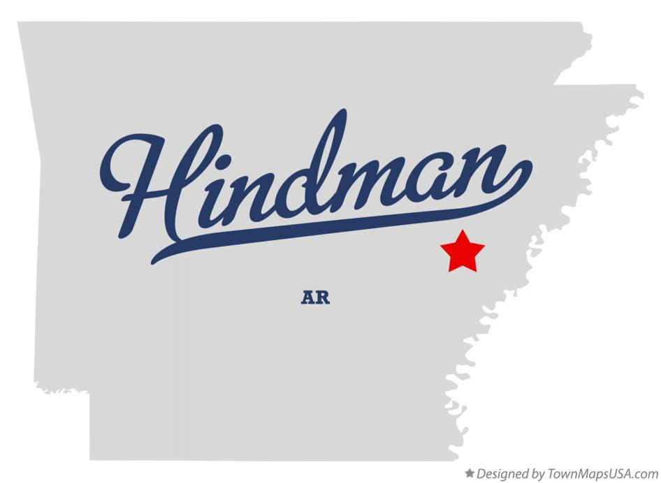Map of Hindman Arkansas AR