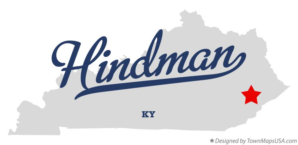 Map of Hindman Kentucky KY