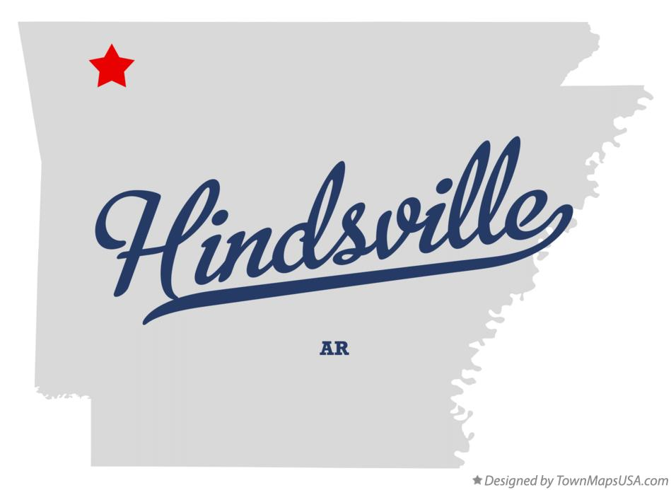 Map of Hindsville Arkansas AR