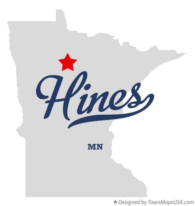 Map of Hines Minnesota MN