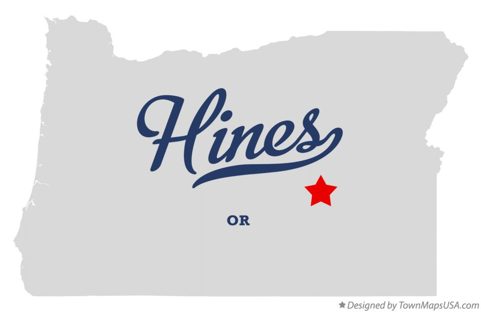 Map of Hines Oregon OR