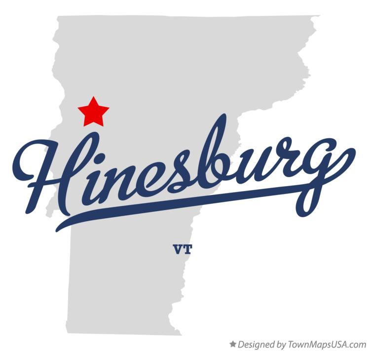Map of Hinesburg Vermont VT