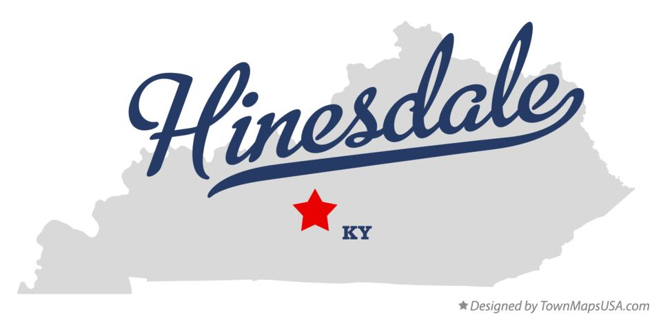 Map of Hinesdale Kentucky KY