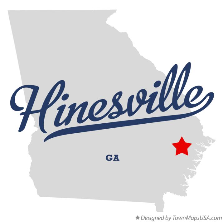 Map of Hinesville Georgia GA