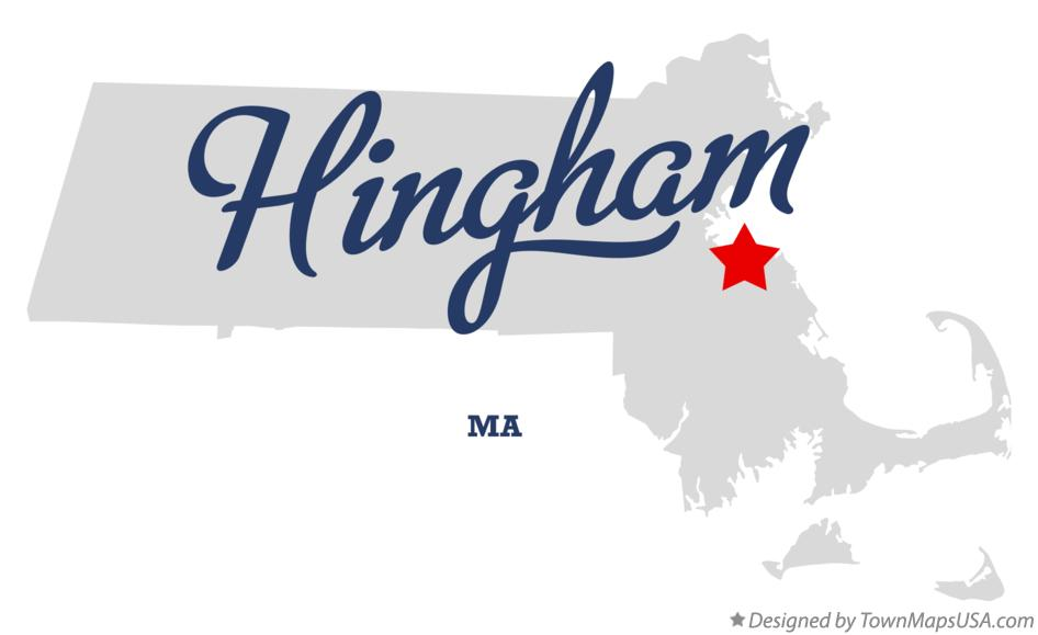 Map of Hingham Massachusetts MA