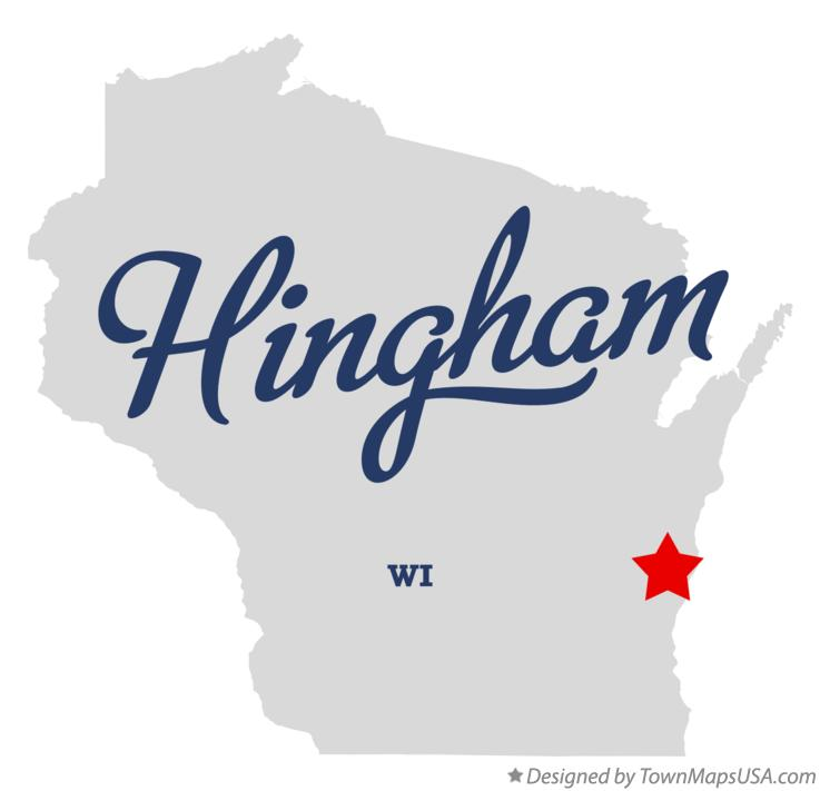 Map of Hingham Wisconsin WI