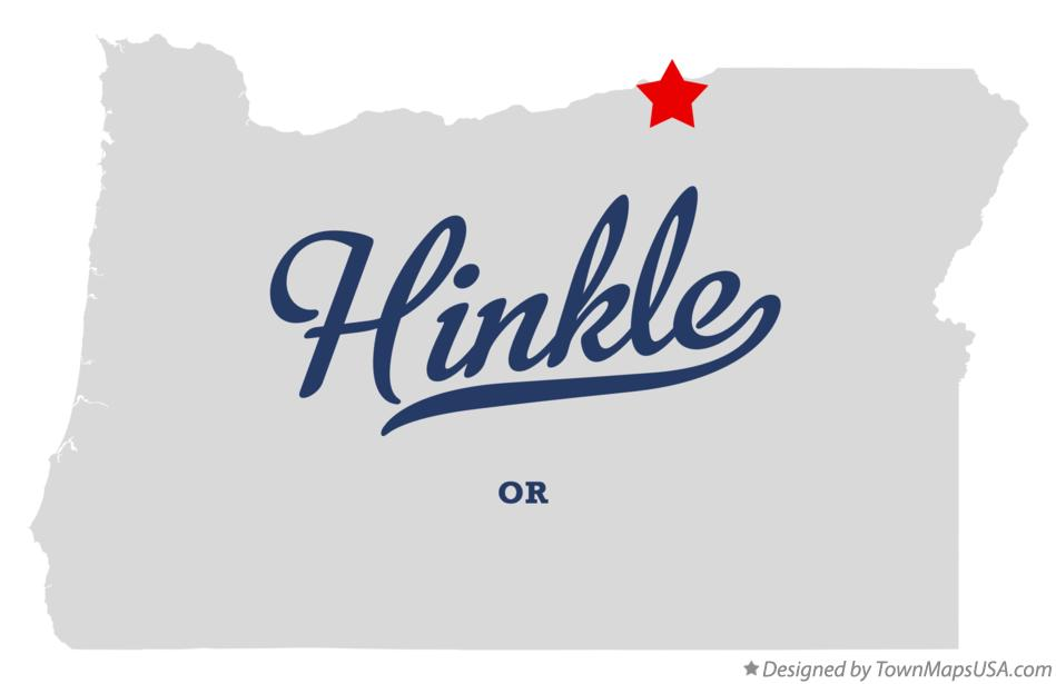 Map of Hinkle Oregon OR