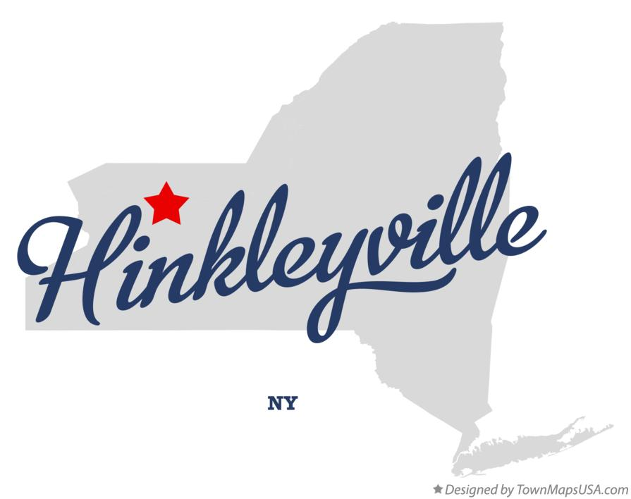 Map of Hinkleyville New York NY