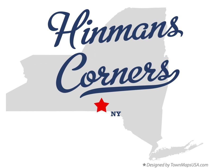 Map of Hinmans Corners New York NY
