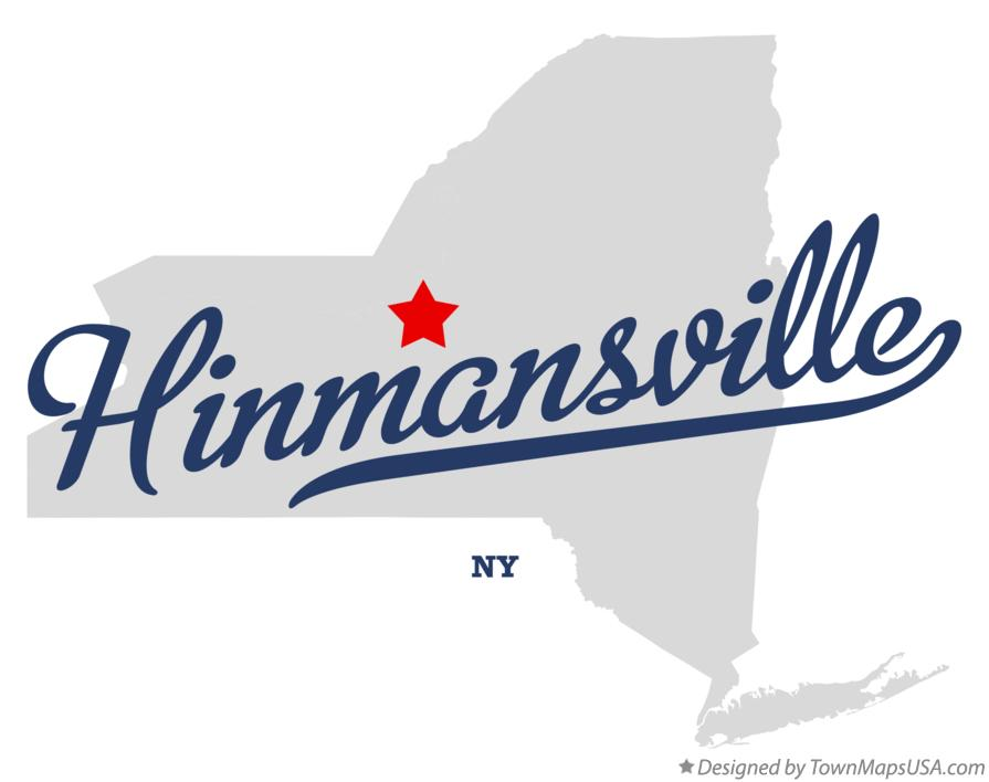 Map of Hinmansville New York NY