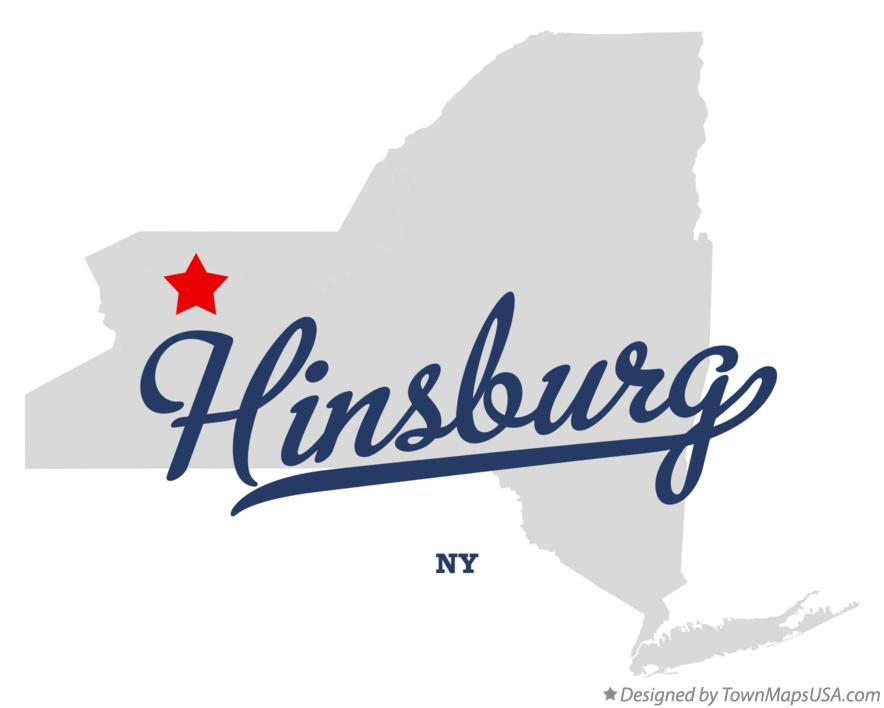 Map of Hinsburg New York NY