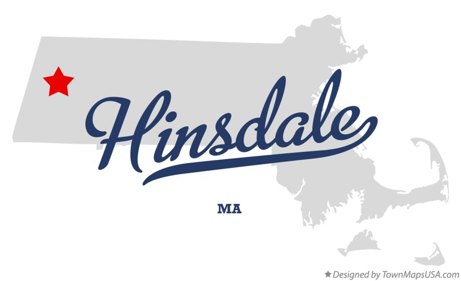 Map of Hinsdale Massachusetts MA