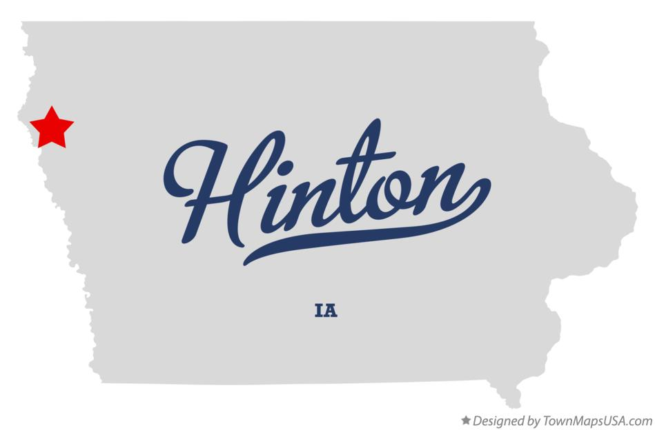 Map of Hinton Iowa IA