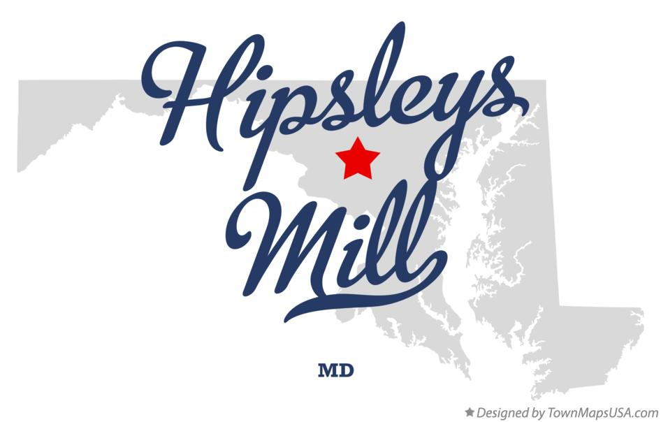 Map of Hipsleys Mill Maryland MD