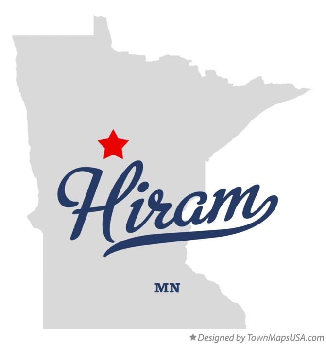 Map of Hiram Minnesota MN