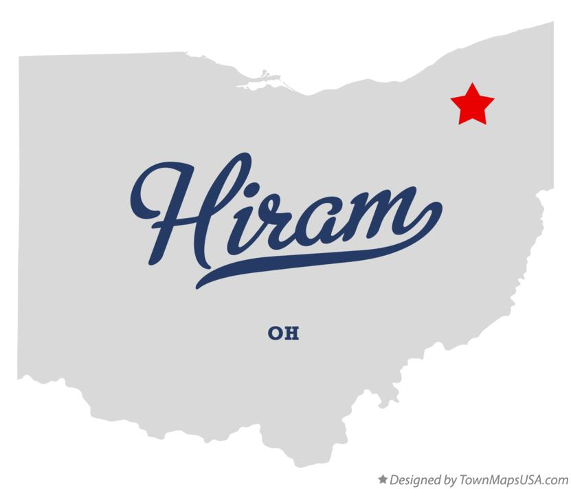 Map of Hiram Ohio OH