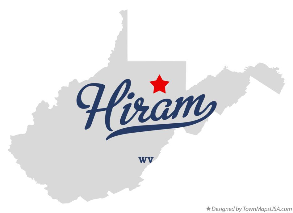 Map of Hiram West Virginia WV