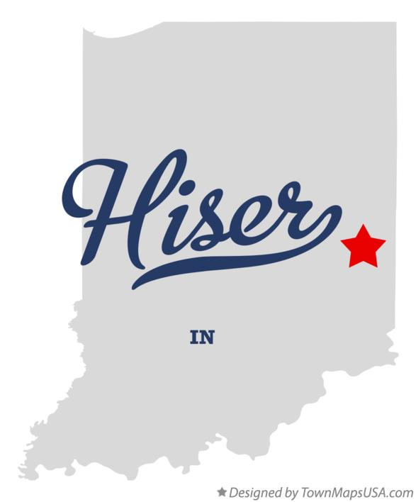 Map of Hiser Indiana IN