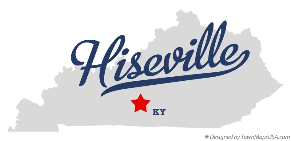 Map of Hiseville Kentucky KY