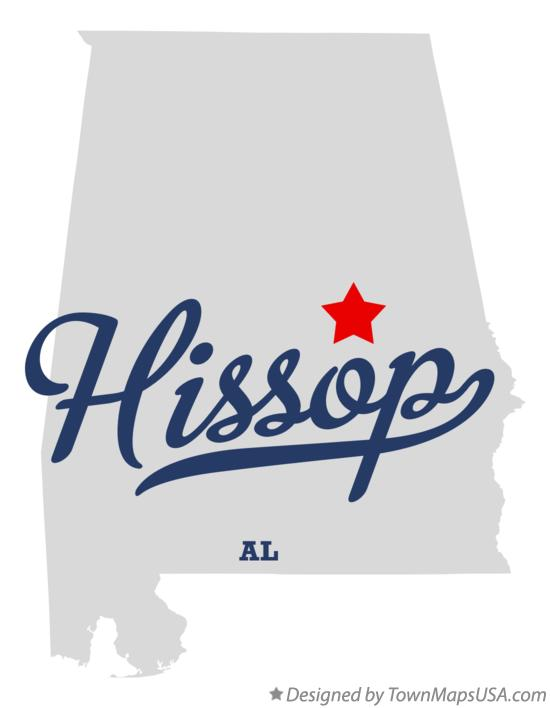 Map of Hissop Alabama AL