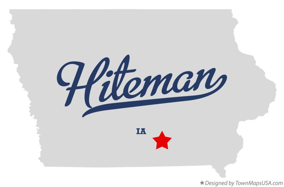 Map of Hiteman Iowa IA