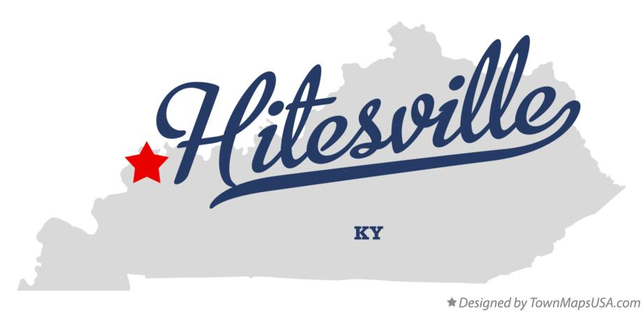 Map of Hitesville Kentucky KY