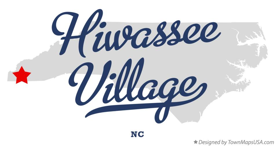 Map of Hiwassee Village North Carolina NC