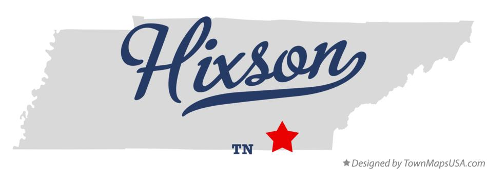 Map of Hixson Tennessee TN