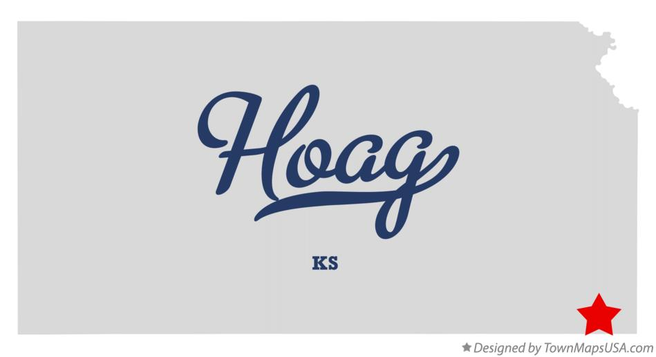 Map of Hoag Kansas KS