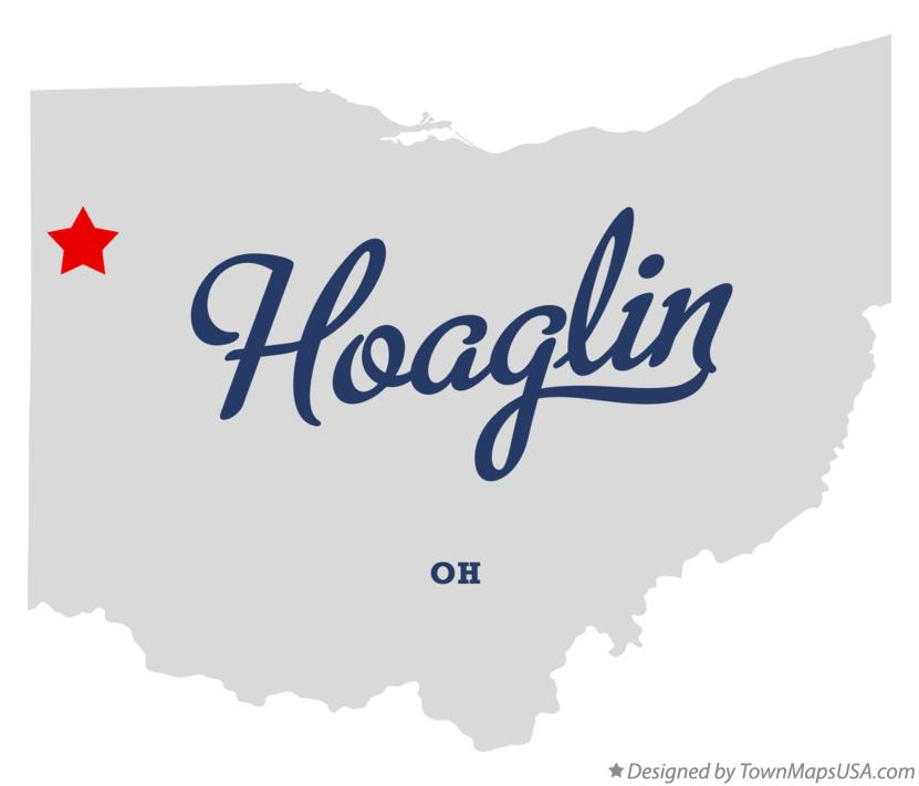 Map of Hoaglin Ohio OH